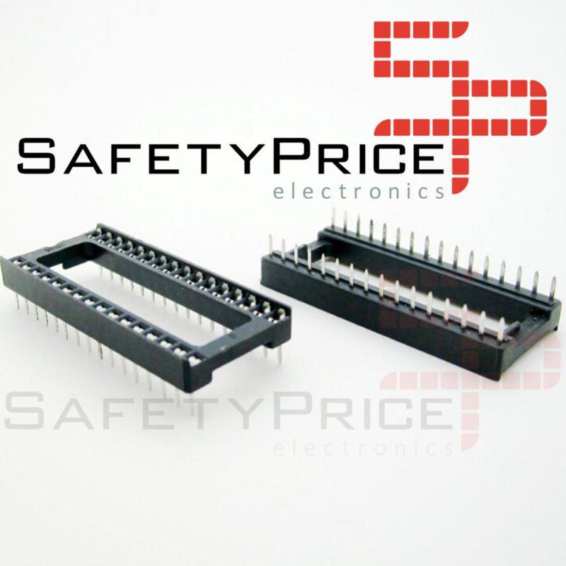 "5x Zocalo integrado DIP 32 Socket doble contacto 0,6 "" (15,24 mm)"