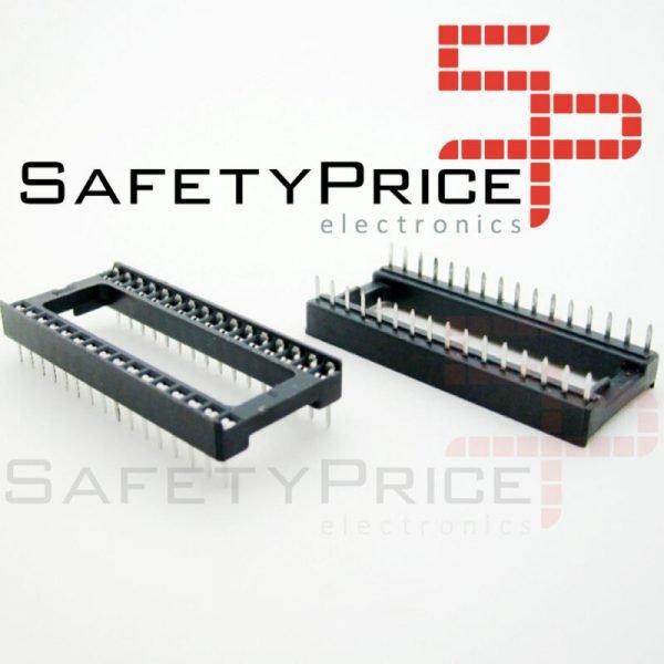 "10x Zocalo integrado 32 PINs DIP 32 Socket doble contacto 0,6 """