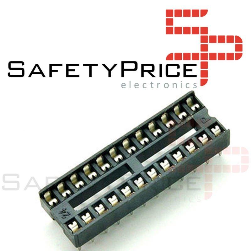 10x Zocalo integrado 24 PINs DIP 24 Socket doble contacto