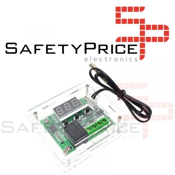 W1209 Termostato + CARCASA controlador de temperatura digital con switch 12v