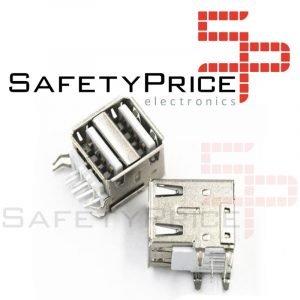 2x Conector Usb Hembra doble Tipo A PCB Socket