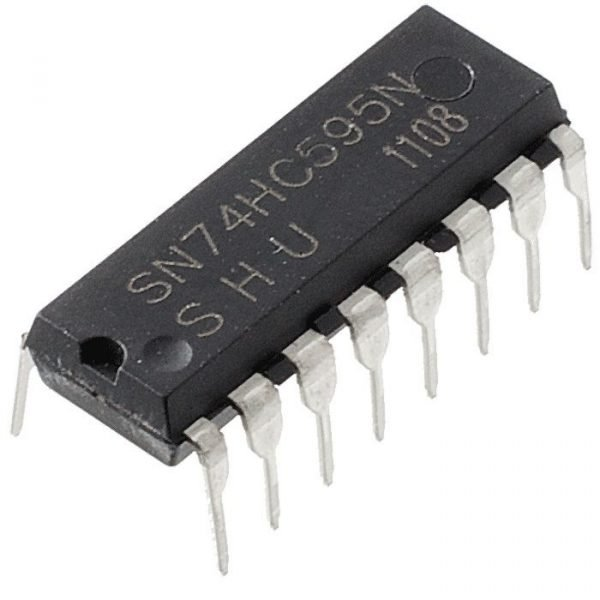 2X 74HC595 8-Bit Shift Register DIP-16