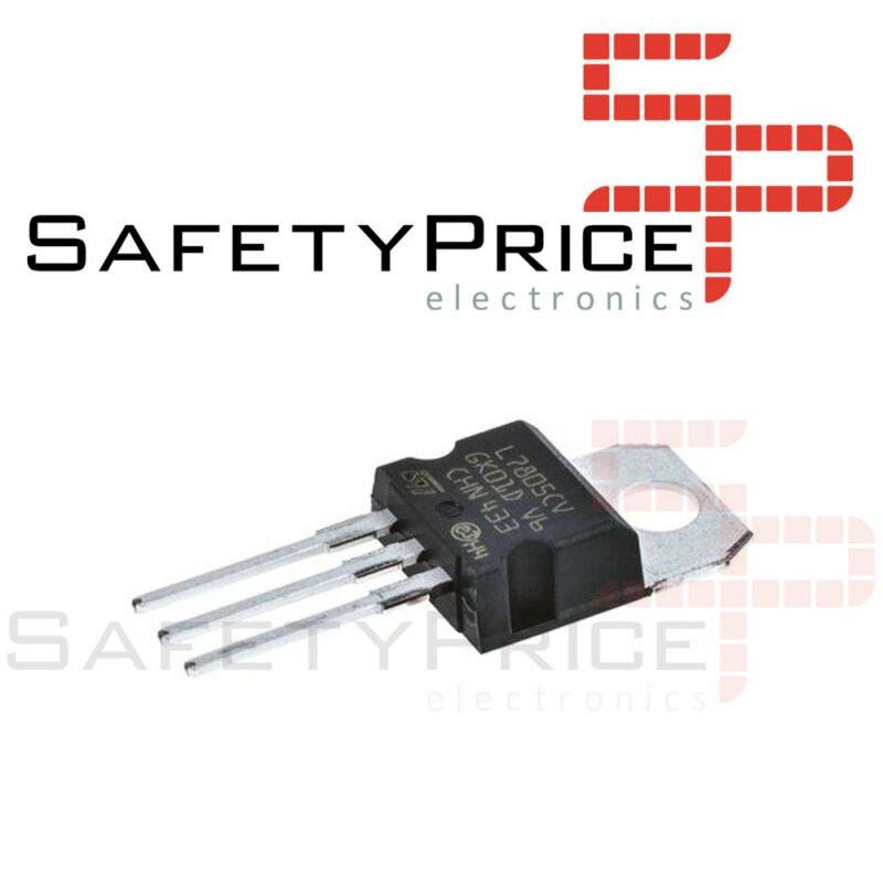 6x Regulador tension L7805CV LM7805 7805 5V 1,5A - TO-220