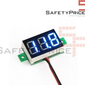Mini Voltimetro 2,5v - 30V DC 2 hilos Display Digital AZUL 0,36