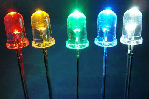 KIT 100 DIODOS LED 3MM (5 COLORES)