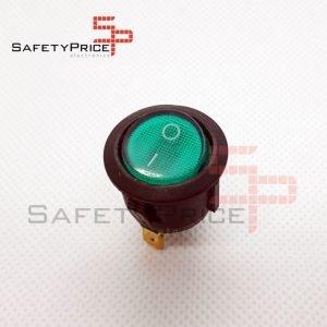 Interruptor ON OFF con luz VERDE Redondo 20mm SPST 220v 6A