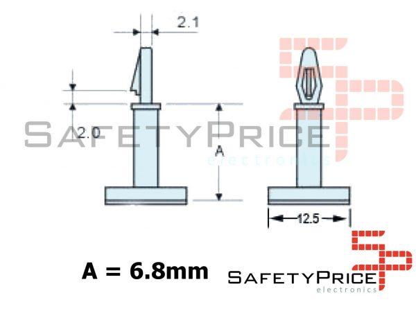 Soporte para PCB Auto adhesivo pcb placa electronica Pila SP