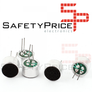 3x micrófono de condensador electret 9,5 MIC SP
