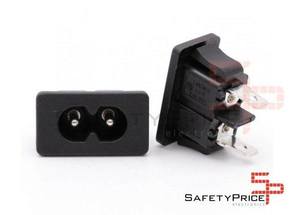 CONECTOR CORRIENTE AC IEC320 C8 CHASIS MACHO 2.5A 250V SP