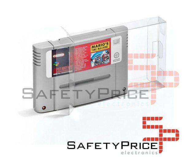 Funda Caja protectora de cartuchos Super Nintendo SNES SFC SP