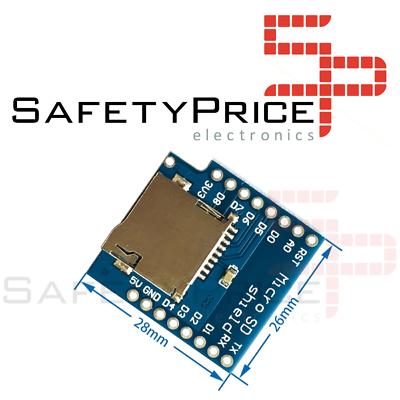 MICRO SD CARD SHIELD COMPATIBLE ARDUINO D1 MINI SP