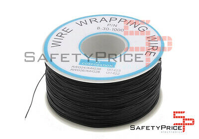 Bobina AWG30 NEGRO 200m Cable Hilo WRAPPING SP