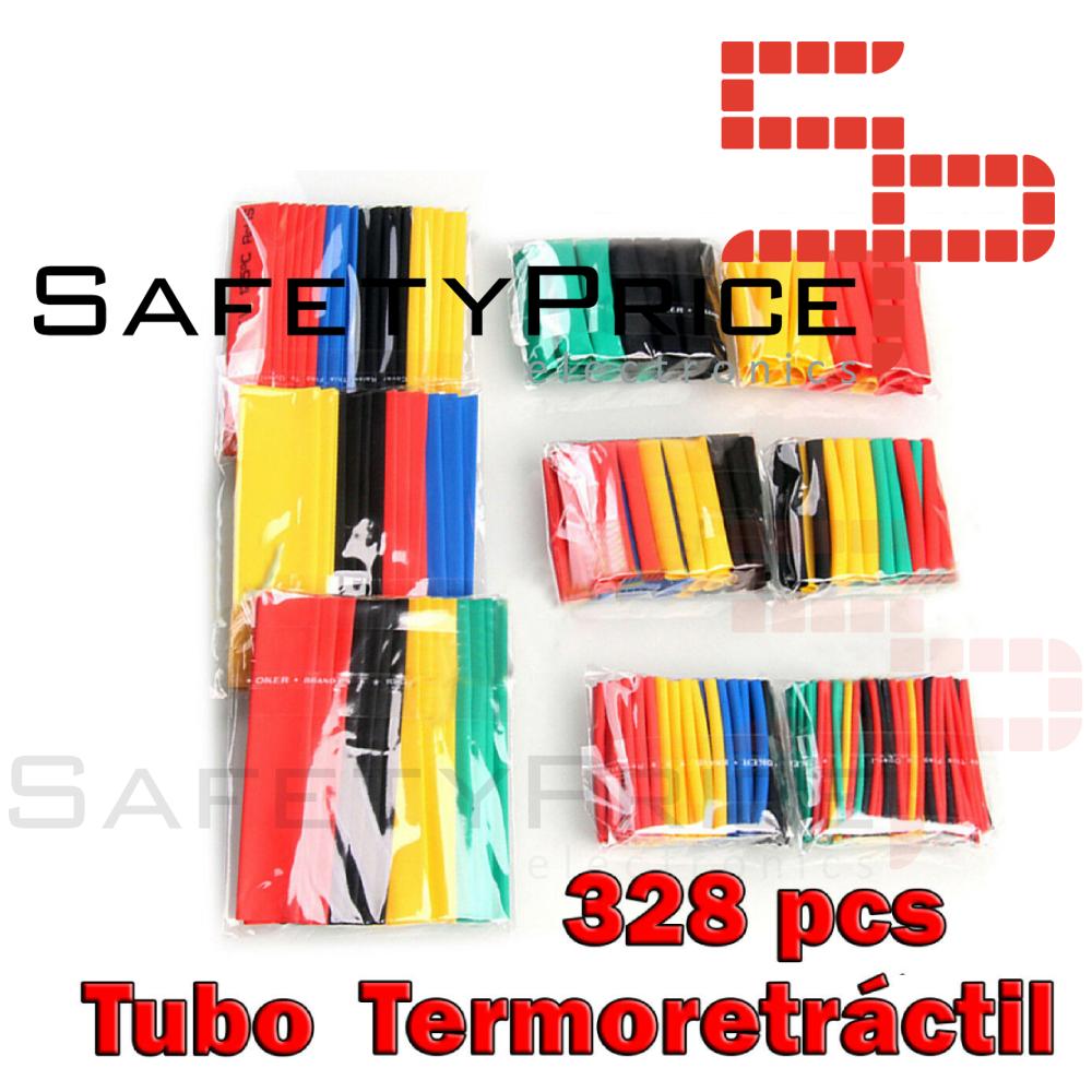 328 Pcs Surtido Tubo Termoretractil de Colores Aislante para cables 8 medidas SP
