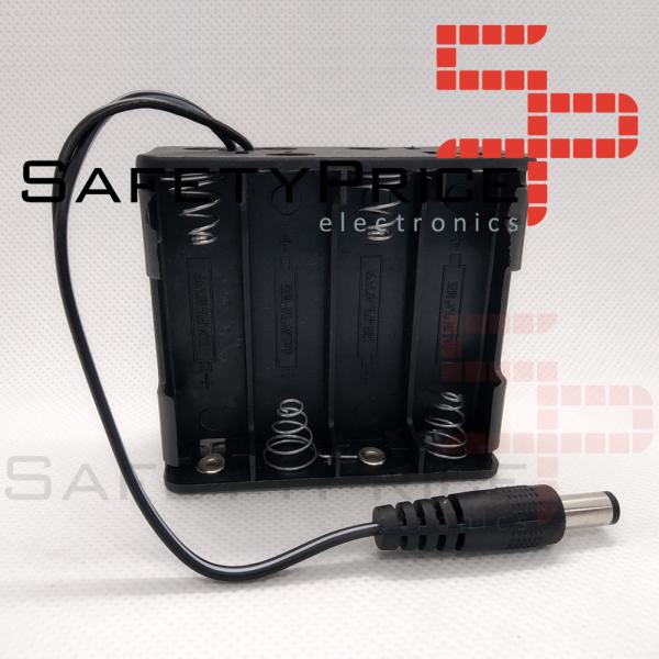 PORTAPILAS 8xAA 12V 4+4 LR06 CON CONECTOR DC SP