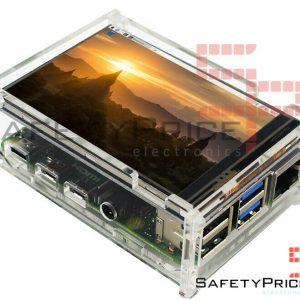 "Carcasa transparente acrilica raspberry pi 4 + LCD 3.5"" Tactil SP"