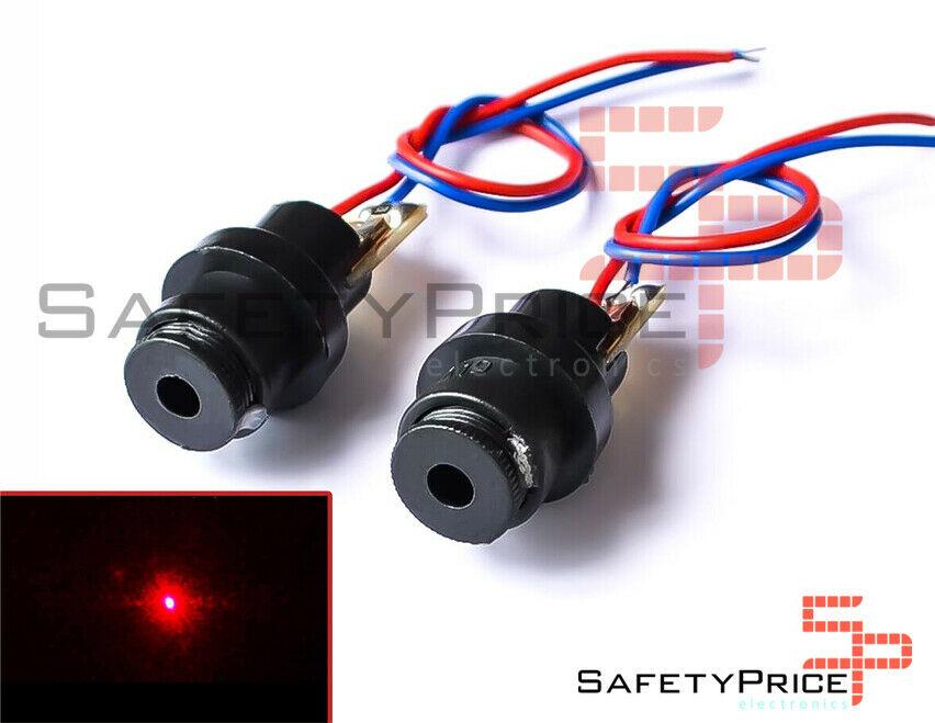 Diodos laser punto rojos 4,5V 650 nm <5 mW <20mA 1000h SP