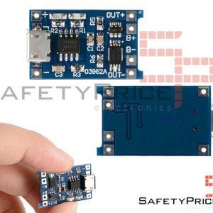 Módulo cargador baterias Litio Protección Micro USB TP4056 SP