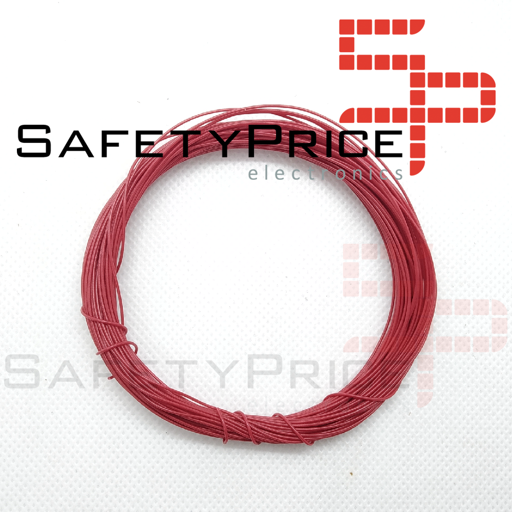 ROLLO 11 METROS CABLE AWG30 ROJO SP