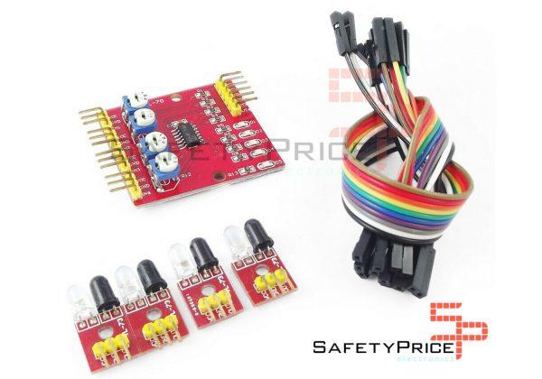 Modulo sensor infrarrojos detector de obstaculos 4 canales SP