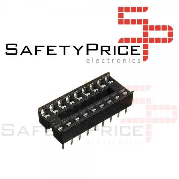 10x Zocalo integrado 18 PINs DIP 18 Socket doble contacto SP