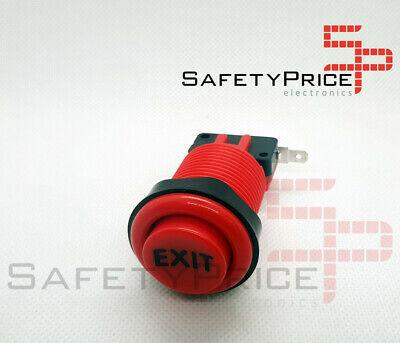 Pulsador Arcade 33mm Rojo EXIT concavo