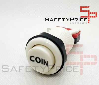 Pulsador Arcade 33mm Blanco COIN concavo