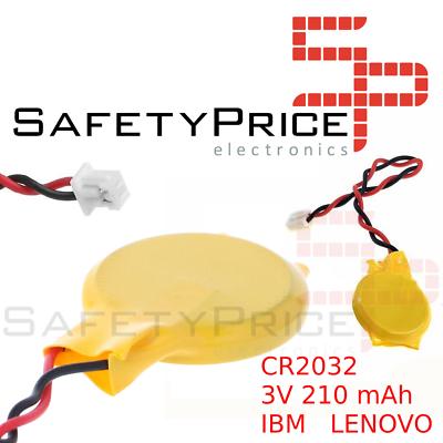 Bateria Pila Alimentacion CMOS BIOS - 3V 210mAh - 2 Pin - Ordenador Portatil IBM LENOVO