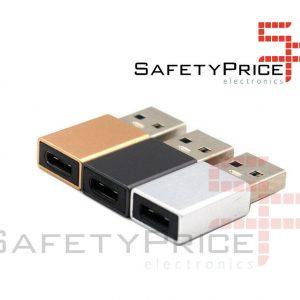 Adaptador USB Tipo C 3.1 a Usb Macho Negro