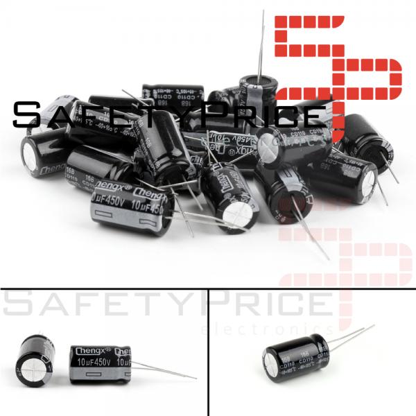 5x CONDENSADOR ELECTROLITICO 10uF 450v 105º C 10x17 MM