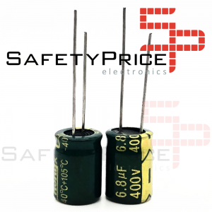 5x CONDENSADOR ELECTROLITICO 6.8uF 400v LOW ESR 105º C 10x13 MM