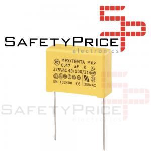 2x Condensador de seguridad MKP X2 0.47uF 474K AC 275V 15mm