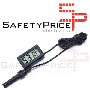Termohigrometro LCD digital temperatura y humedad CON SONDA