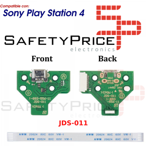 JDS-011 CONECTOR CARGA MANDO PLAY STATION 4 PLACA CORRIENTE MICRO USB PS4 + FLEX 12 pines