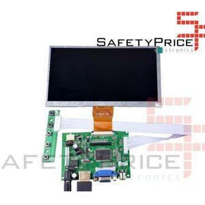 """Pantalla LCD 7"""" HDMI VGA AV Rasbperry consolas electronica"""
