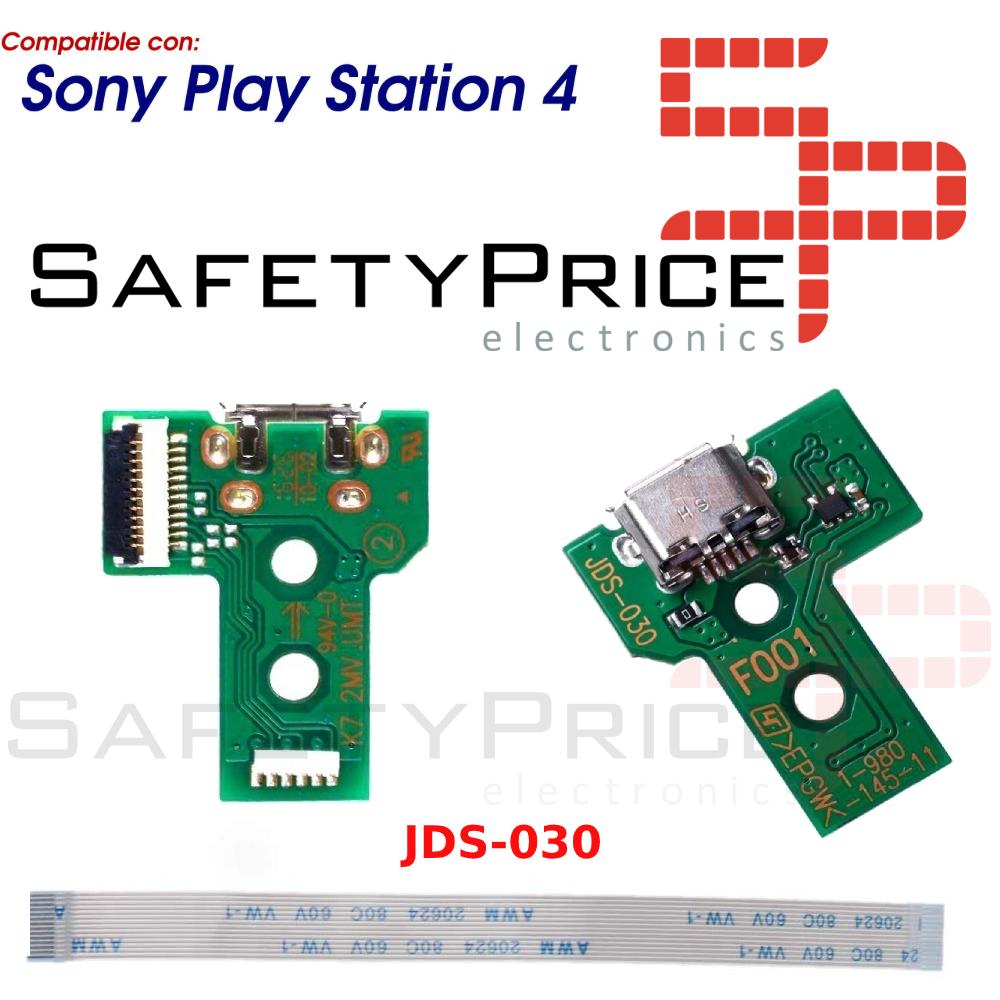 JDS-030 CONECTOR CARGA MANDO PLAY STATION 4 PLACA CORRIENTE MICRO USB PS4 + FLEX 12 pines