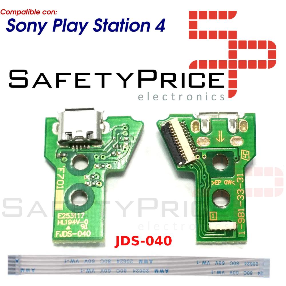 JDS-040 CONECTOR CARGA MANDO PLAY STATION 4 PLACA CORRIENTE MICRO USB PS4 + FLEX 12 pines