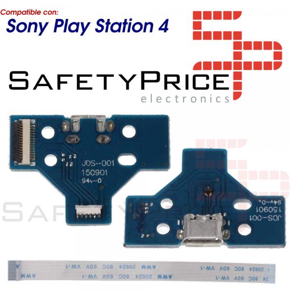 JDS-001 CONECTOR CARGA MANDO PLAY STATION 4 PLACA CORRIENTE MICRO USB PS4 + FLEX 14 PINES