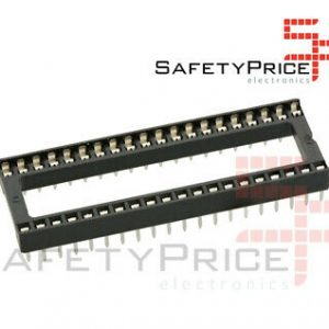 "5X ZOCALO INTEGRADO DIP 40 SOCKET DOBLE CONTACTO 0,6 "" (15,24 MM)"