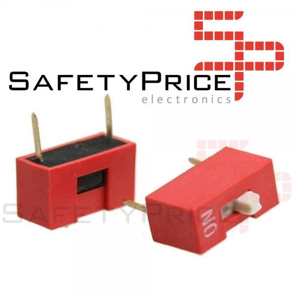 3x Interruptor Dip Switch 1 posiciones 1p ON OFF 2.54mm