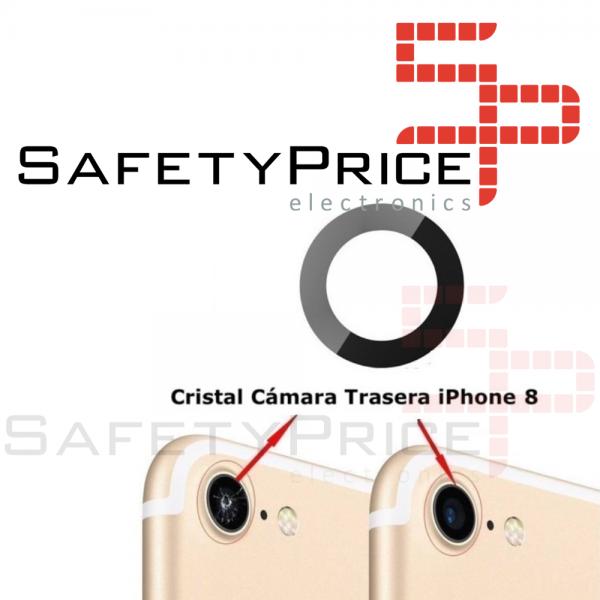 Cristal cámara trasera iPhone 8