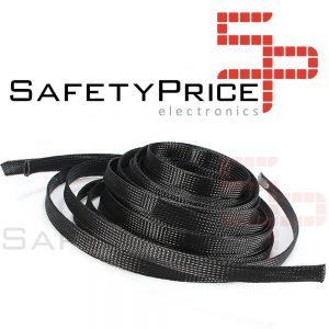 "Funda para cable malla proteccion 12 mm tipo ""piel de serpiente"" PET Modelismo RC"