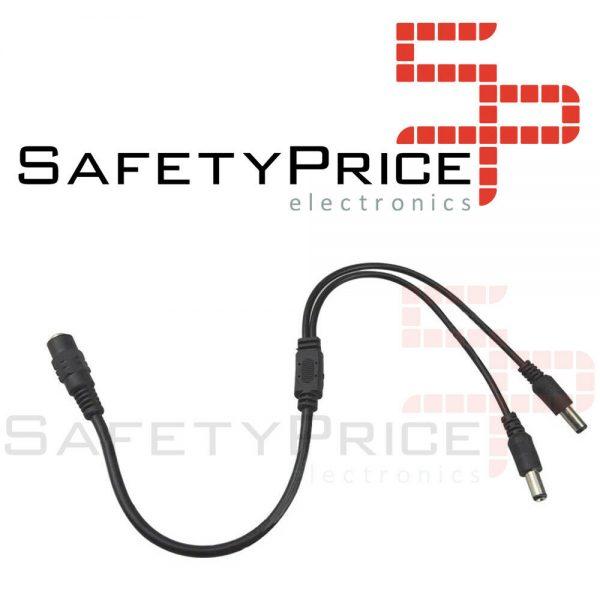 Cable splitter duplicador 2 salidas CCTV camara seguridad 12V - 2.1mm x 5.5mm