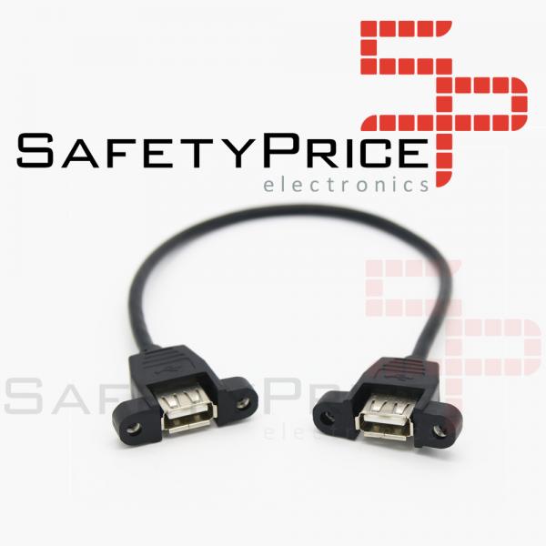 CABLE ALARGADOR USB 25CM HEMBRA HEMBRA MONTAJE PANEL EXTENSOR