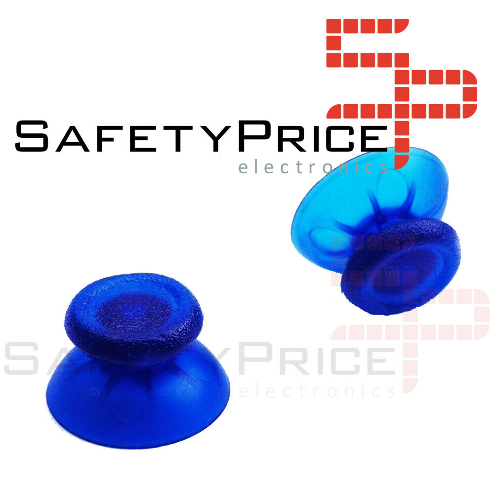 2x JOYSTICK PS4 PLAYSTATION 4 ANALOGICO MANDO THUMB STICK BOTONES R3 L3 AZUL TRANSPARENTE