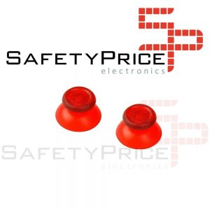 2x JOYSTICK PS4 PLAYSTATION 4 ANALOGICO MANDO THUMB STICK BOTONES R3 L3 ROJO TRANSPARENTE