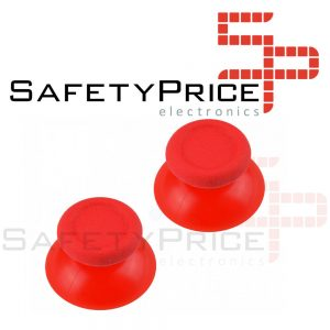2x JOYSTICK PS4 PLAYSTATION 4 ANALOGICO MANDO THUMB STICK BOTONES R3 L3 ROJO