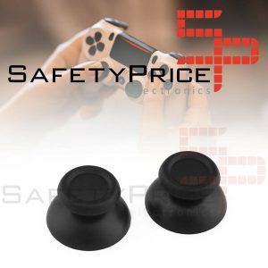 2x JOYSTICK PS4 PLAYSTATION 4 ANALOGICO MANDO THUMB STICK BOTONES R3 L3 NEGRO