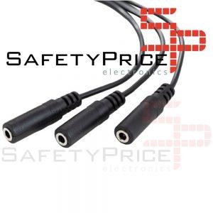 Cable Duplicador Divisor audio auricular Jack 3.5mm Splitter 1 Macho a 3 Hembra