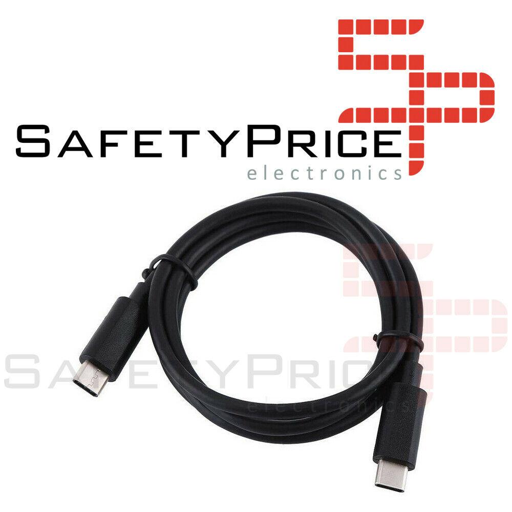 Cable USB3.1 Tipo-C a Tipo-C Macho carga rápida datos para Apple movil tablet 1m