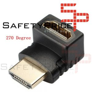 HDMI Angulo Recto Adaptador Macho A Hembra 270 Grados Dorado para PS3 PS4 Xbox